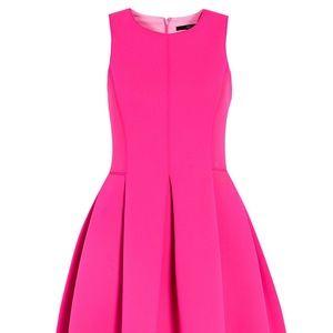 Tibi Dresses - Tibi Neoprene Sleeveless Dress in shocking Pink